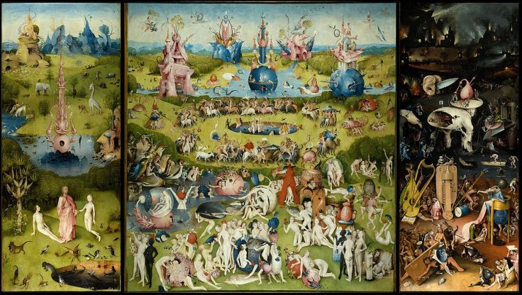 "Hieronymus Bosch, ""The Garden of Earthly Delights"", between 1480 and 1505."