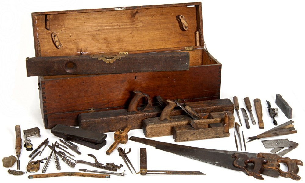 Minnesota State Capitol Woodworkers Toolbox, circa 1900, Wikimedia Commons.