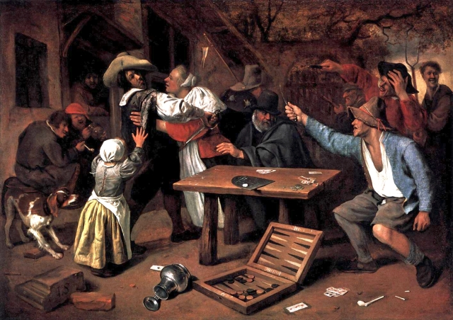 Jan Steen, Argument over a Card Game, Wikimedia Commons.