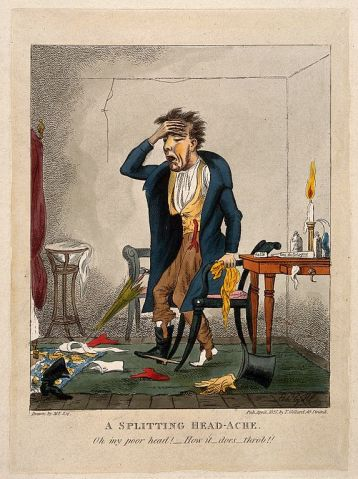 A man with an excruciating headache, Wikimedia Commons